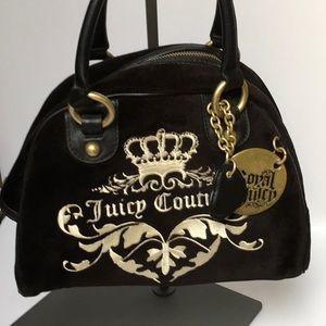 Juicy Couture Black Suede Handbag